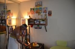 Completing poojai